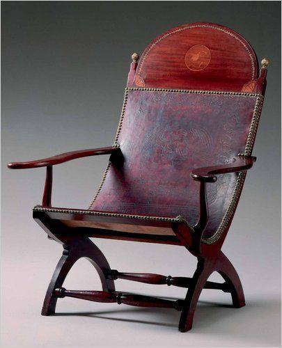 Louisiana Mahogany Campeche Chair   Circa 1815. Louisiana Mahogany Campeche Chair   Circa 1815    early American
