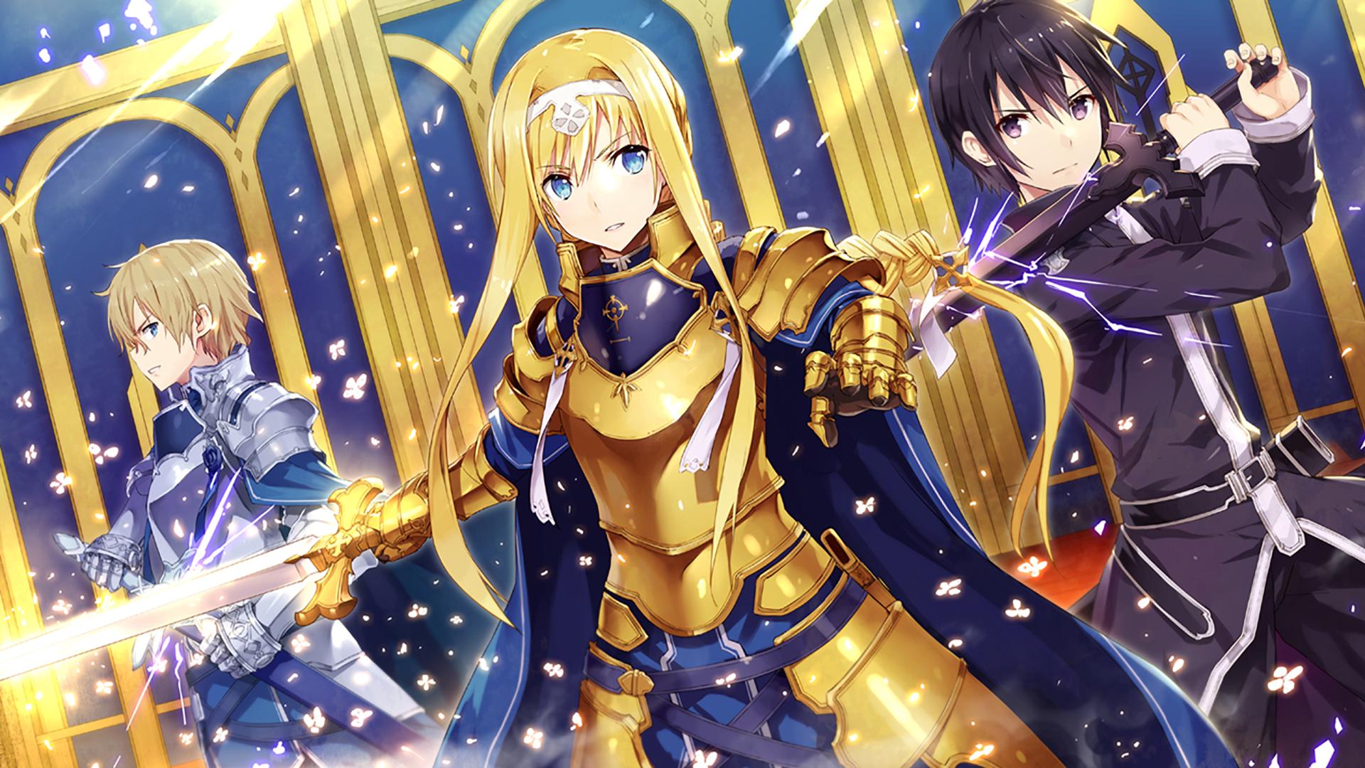 Anime Sword Art Online Alice Schuberg Kirito Sword Art Online