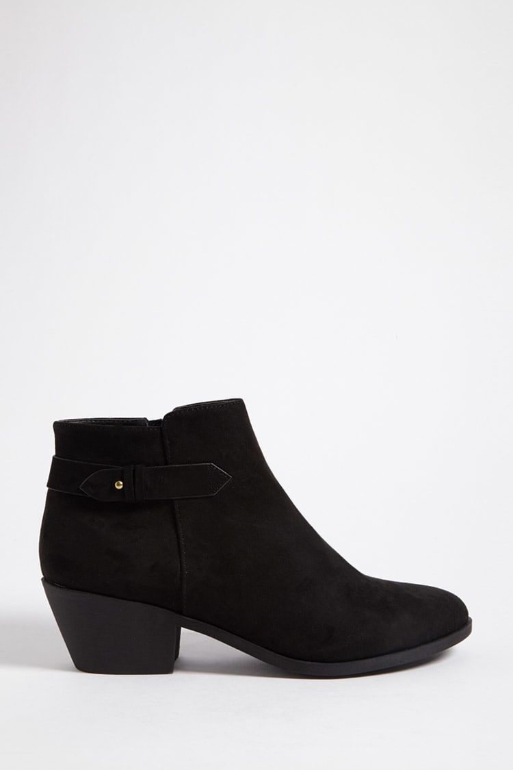 13691021ad8d Faux Suede Ankle Boots - Women - New Arrivals - 2000254464 - Forever 21  Canada English