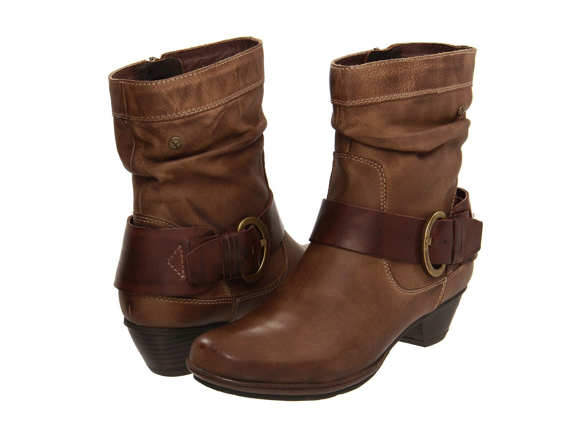 Pikolinos 801-8003 Brown Leather Slouch Brujas Mid Calf Boots Size 4
