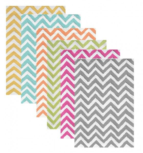 Aqua And Red Rugs The Rug Market Chevron Collection