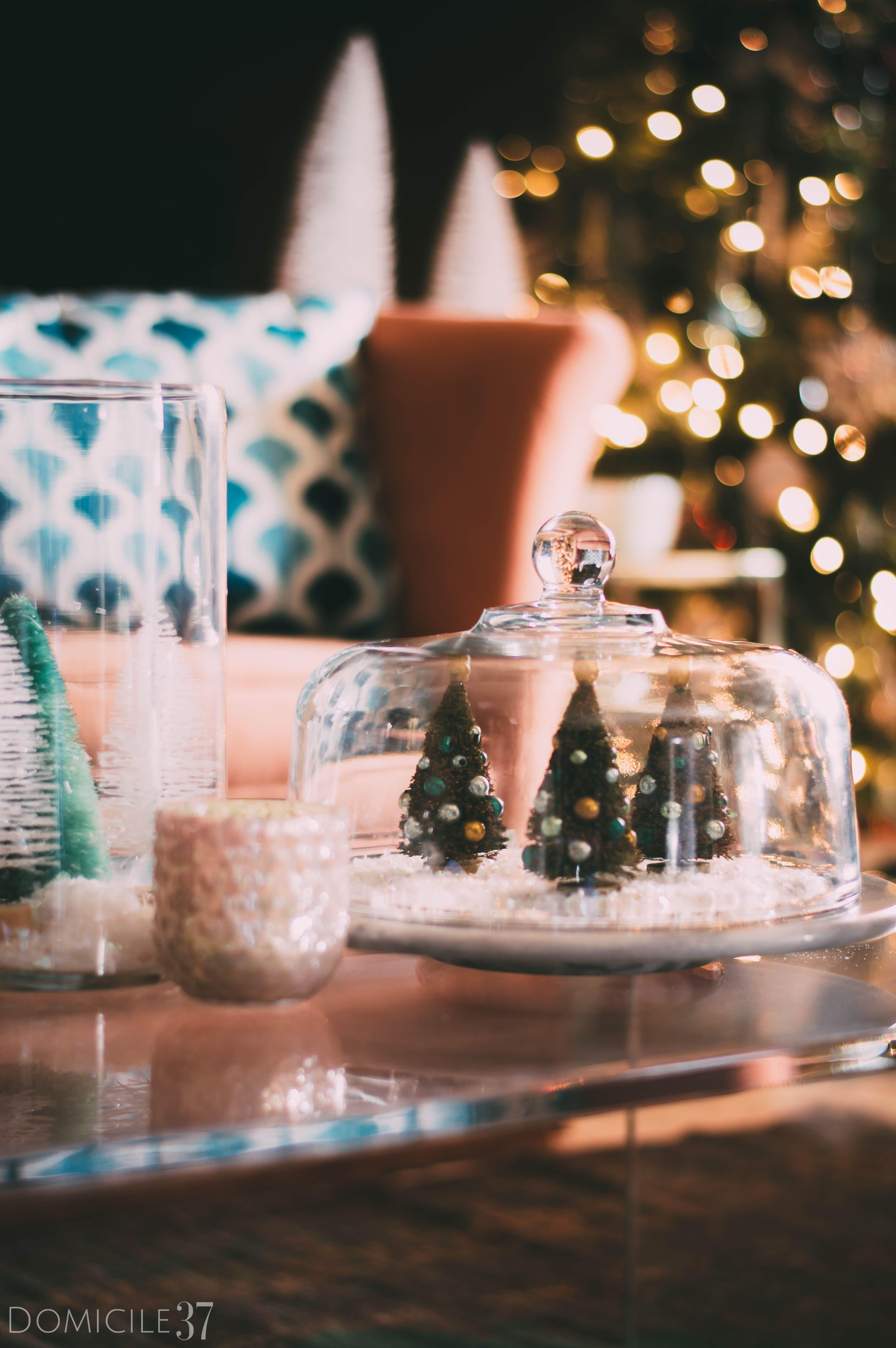 Vintage Eclectic Christmas Decor and DIY Terrarium