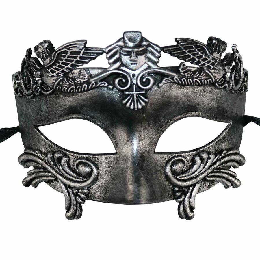 Halloween Men Greek Roman Venetian Cosplay Party Costume Half Face Eye Mask
