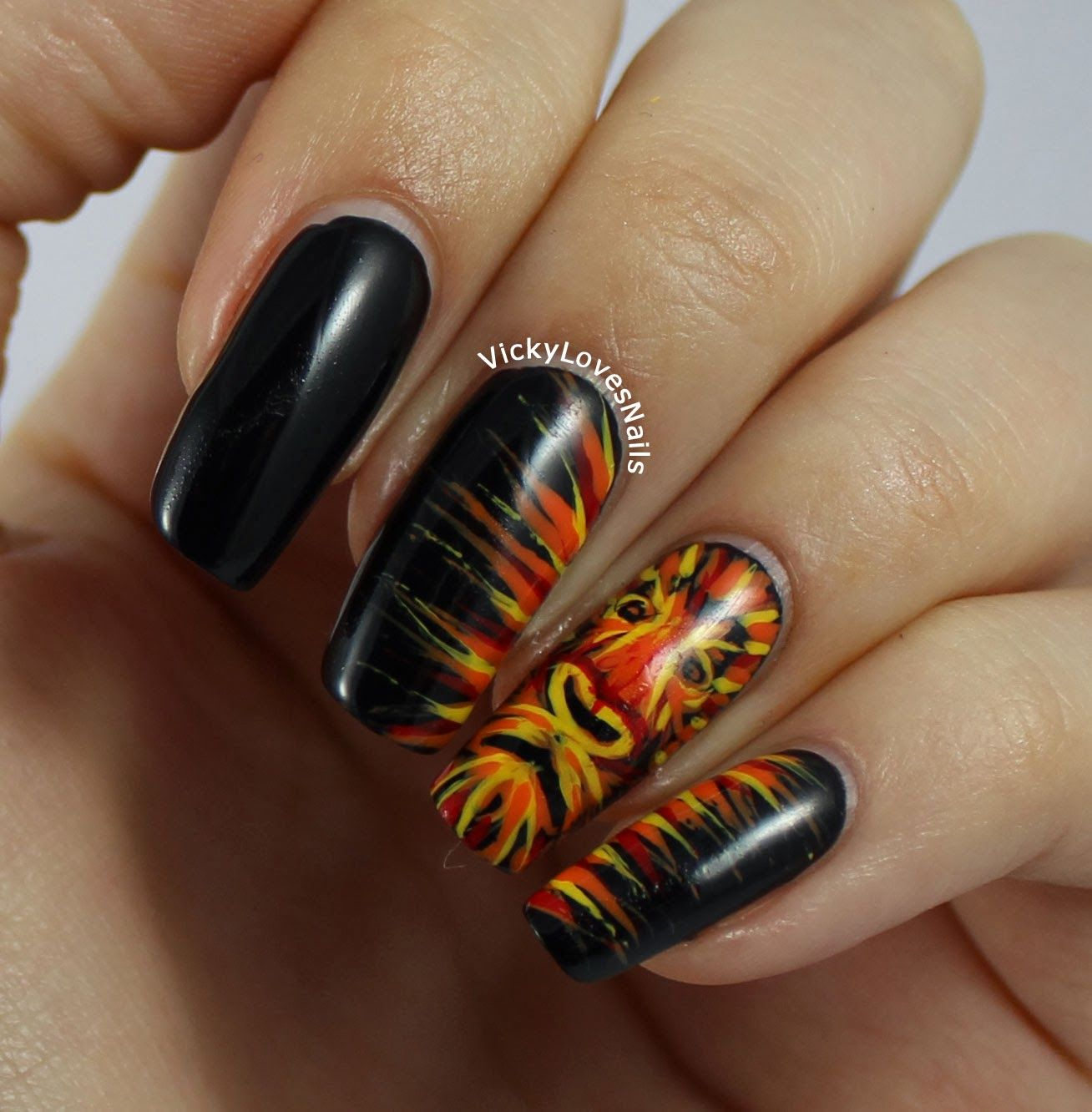 Vicky Loves Nails: January Tri Polish Challenge, Red, Yellow and ...