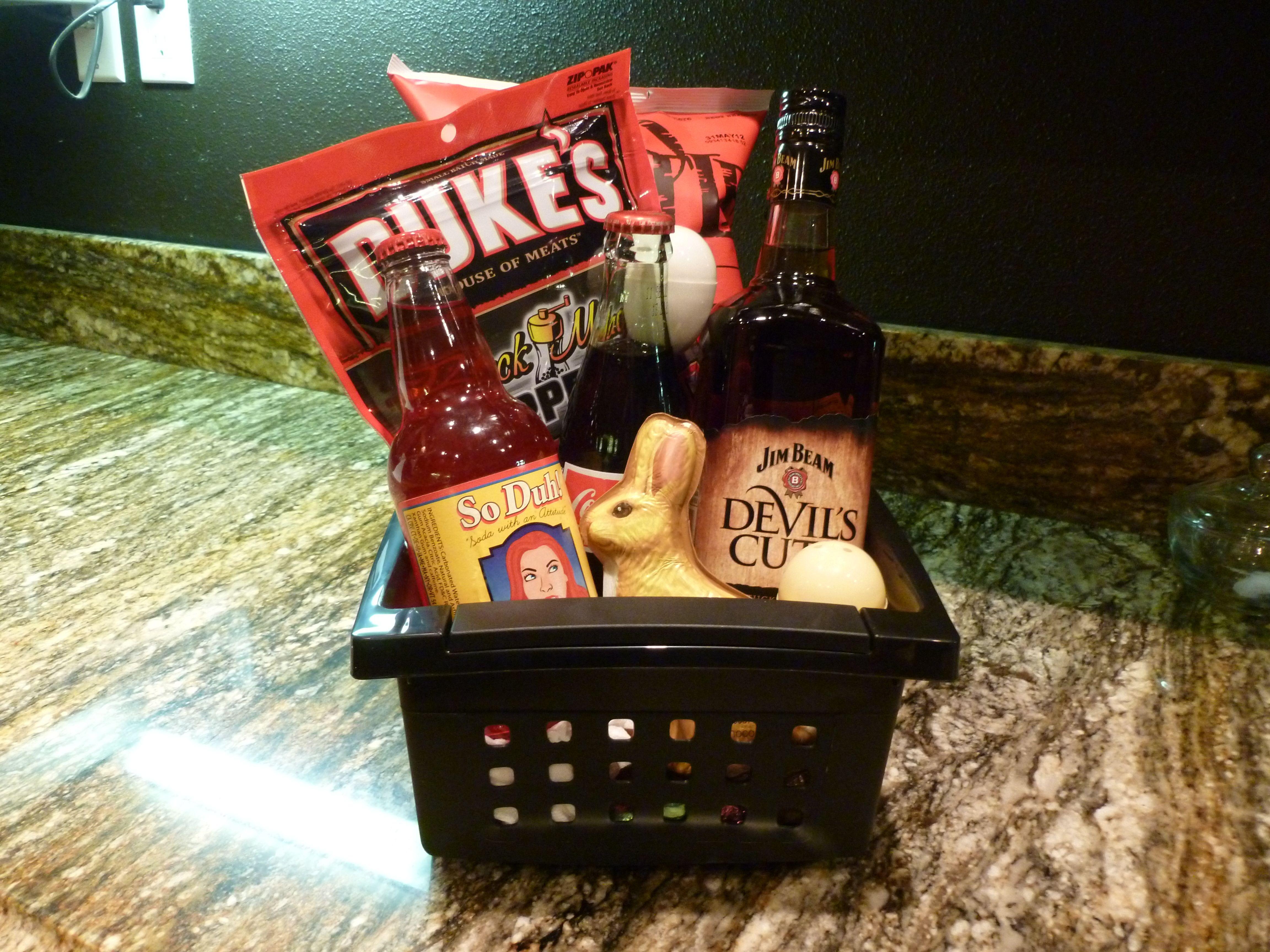 Whiskey adult gift basket gift baskets pinterest gift basket whiskey adult gift basket negle Gallery