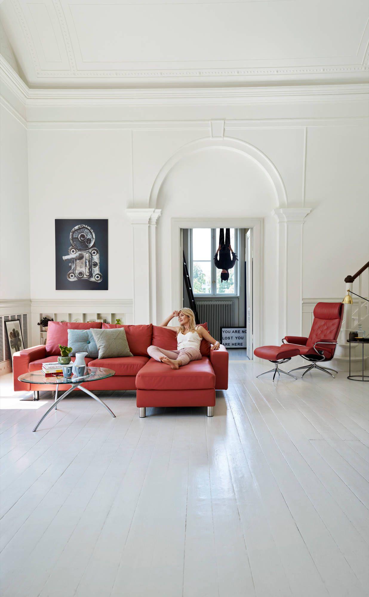 kurze auszeit stressless sofa e200 als 2er mit longseat und stressless metro relaxsessel. Black Bedroom Furniture Sets. Home Design Ideas