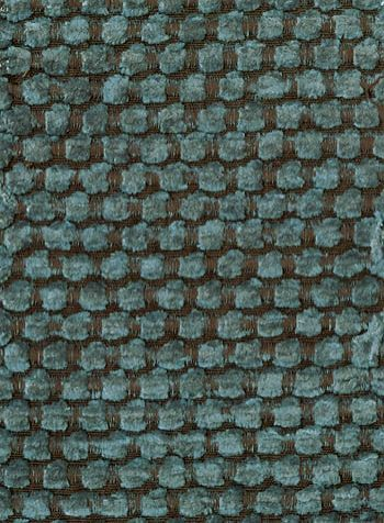 Brescia Spot Chenille Fabric Teal Chenille Spot Woven On Chocolate - Chenille upholstery fabric