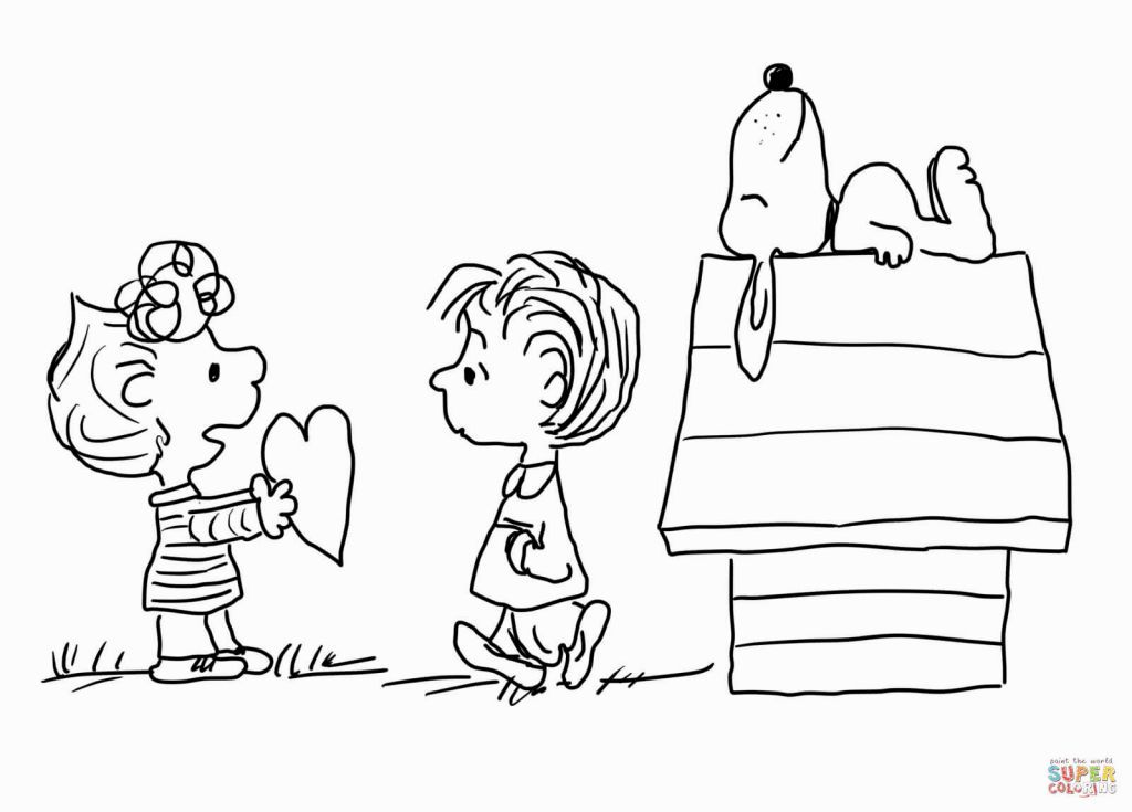 Charlie Brown Characters Coloring Pages | Color My World | Pinterest ...