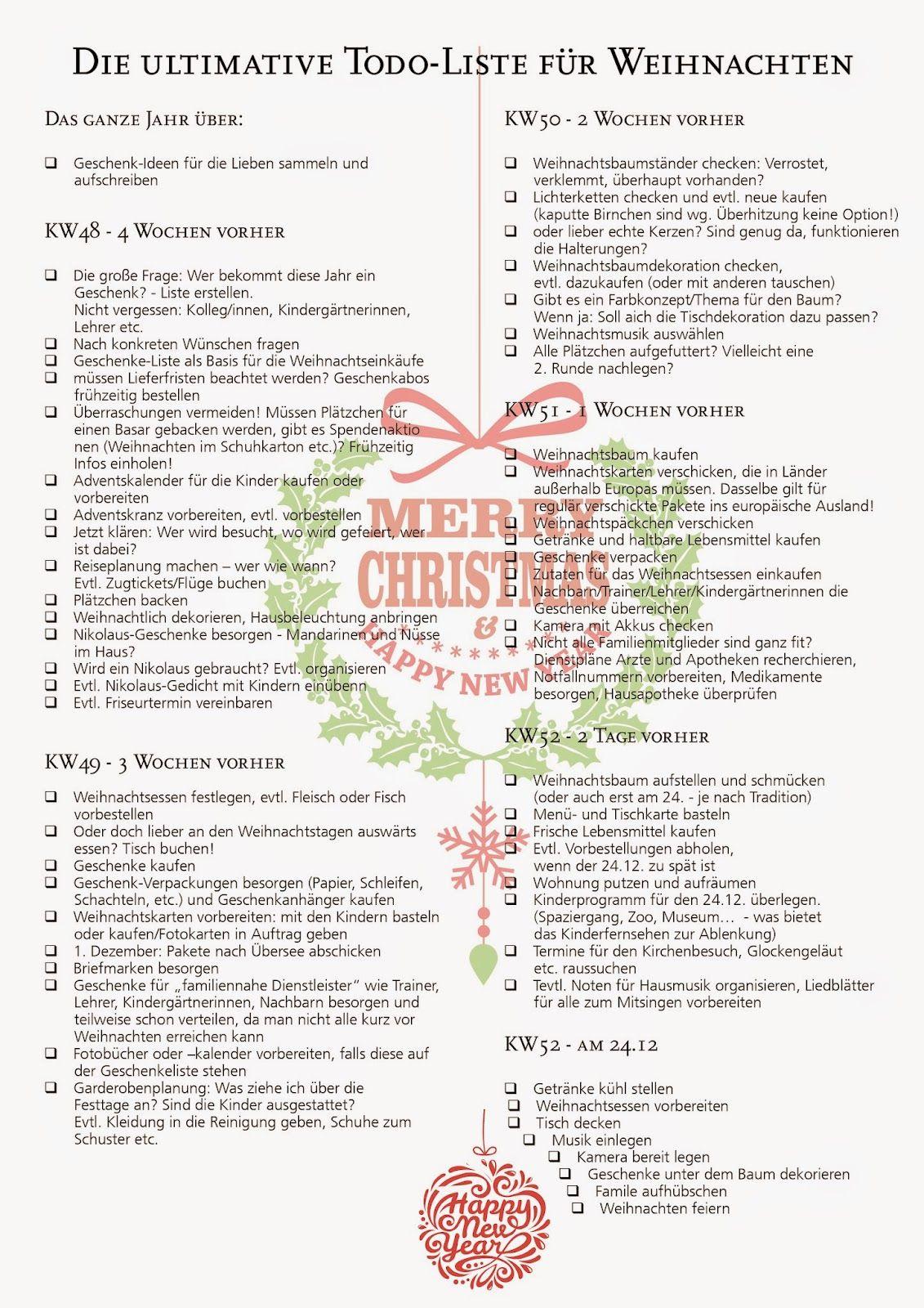 Damit Weihnachten dieses Jahr nicht so plötzlich kommt … – ordnungsliebe