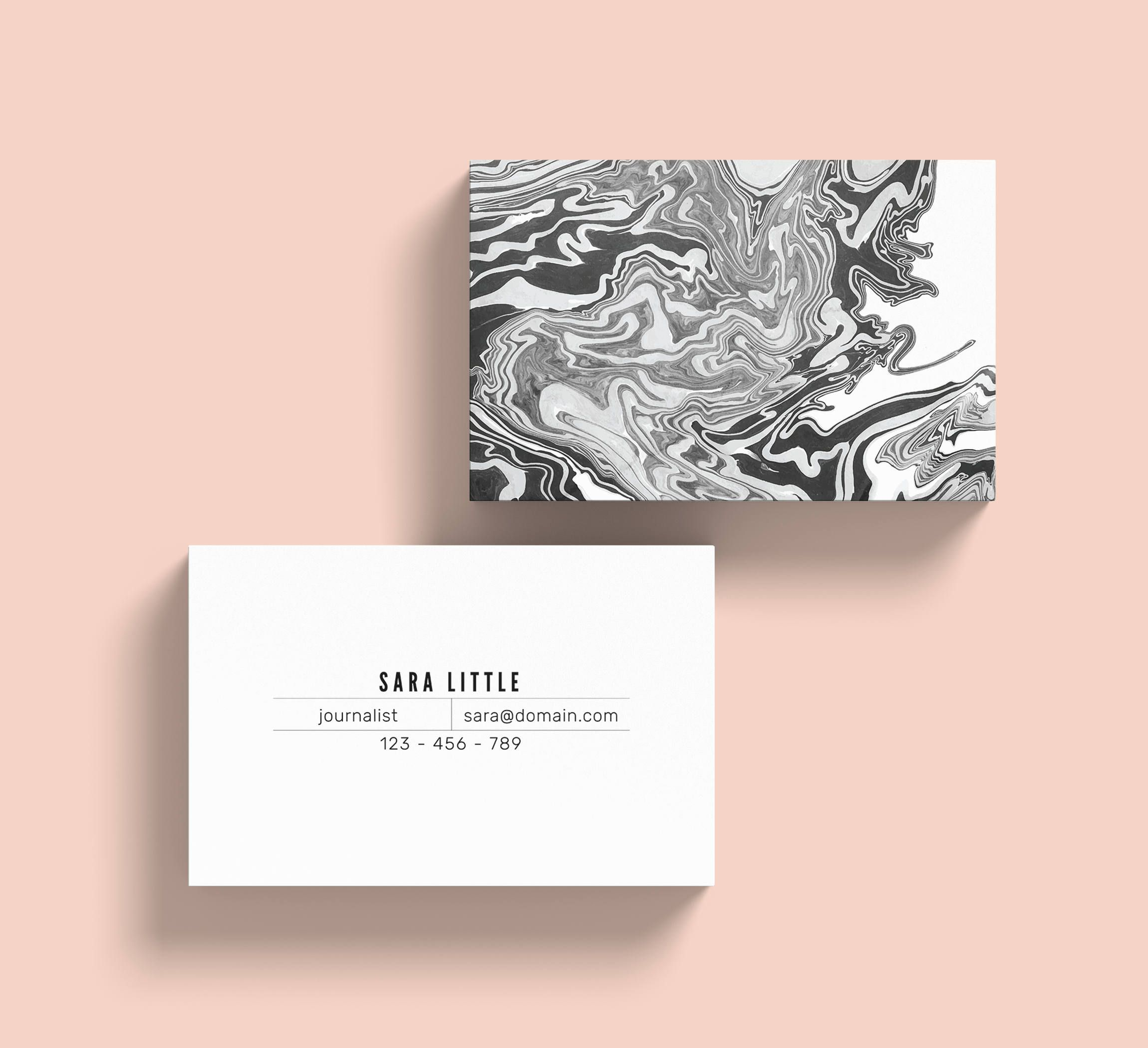 Marble business card template instant download this black and marble business card template instant download this black and white business card designed with adobe friedricerecipe Choice Image