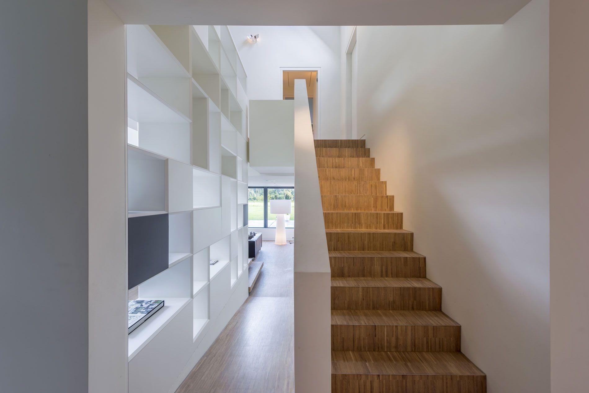Mooie trap maas architecten woonhuis peize nieuw huis in