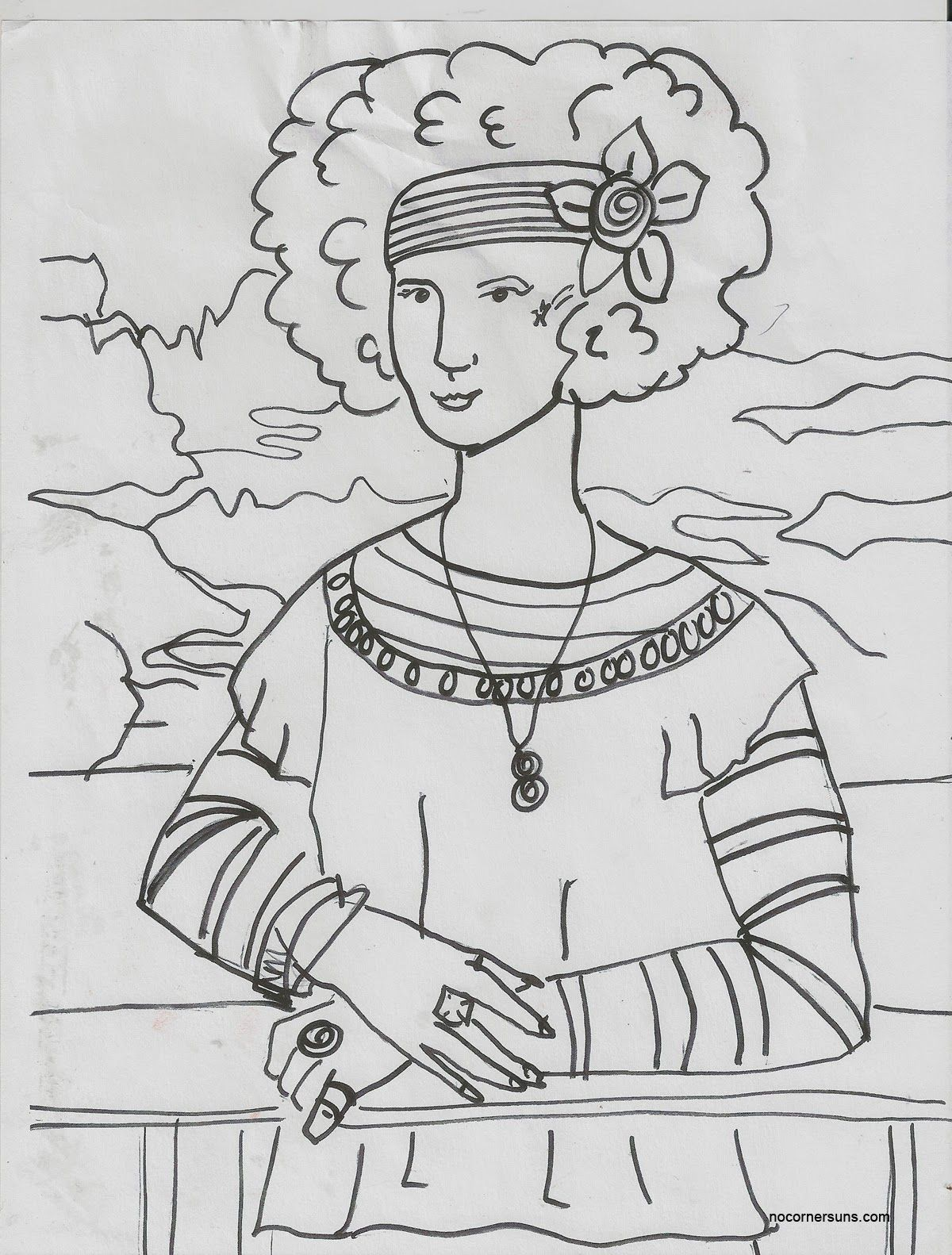 Modern Coloring Pages | Mona Lisa Coloring Page | arte renascentista ...