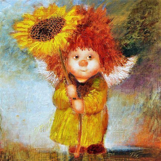 Капелька ангельского позитива в картинках. | Краска ...