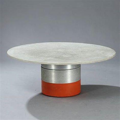 Circular Modular Dining / Coffee Table By Ivan Schlechter And Jorgen Hoj.  Aluminum, Light