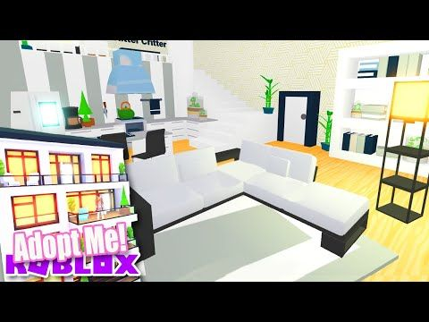 Sleek Modern Apartment Speed Build Adopt Me Roblox Home Update Youtube Simple Bedroom Design Simple Bedroom Loft House Design