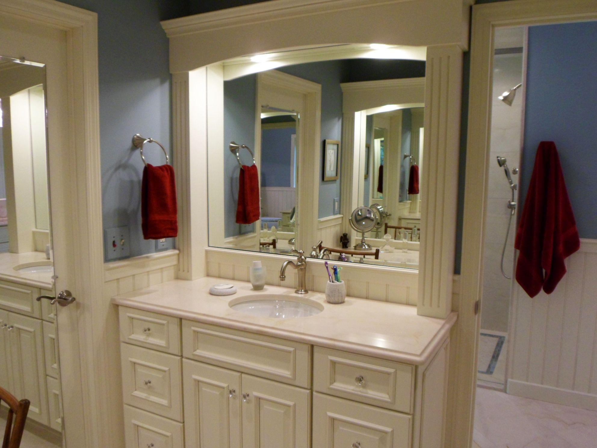 Bathroom Remodel Mirror Door