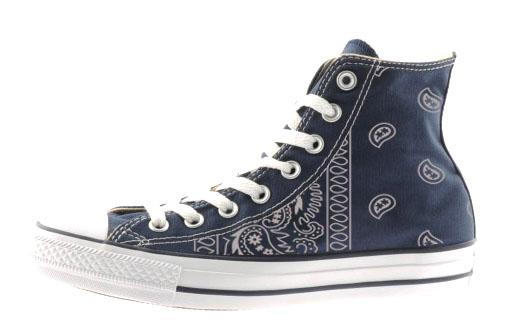 442e9209e0285c Bandana Fever LA Rams Print Custom Navy Converse High Top Shoes in ...