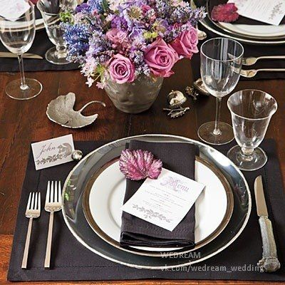 Add Black for Big Impact - Dramatic Thanksgiving Table Setting - Southern Living & Pin by J K on Tableware | Pinterest | Tableware