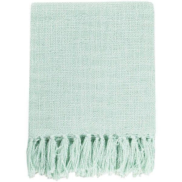 Surya Tilda Mint Throw Blanket 40 liked on Polyvore