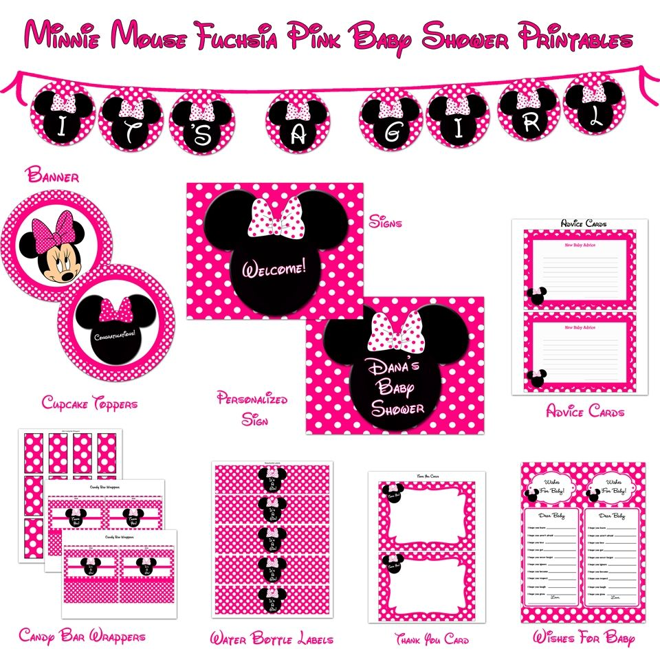 Imagen relacionada cumple de andrea 2 pinterest minnie mouse designs minnie mouse baby shower invitations full size exquisite free template with card nice looking maxwellsz