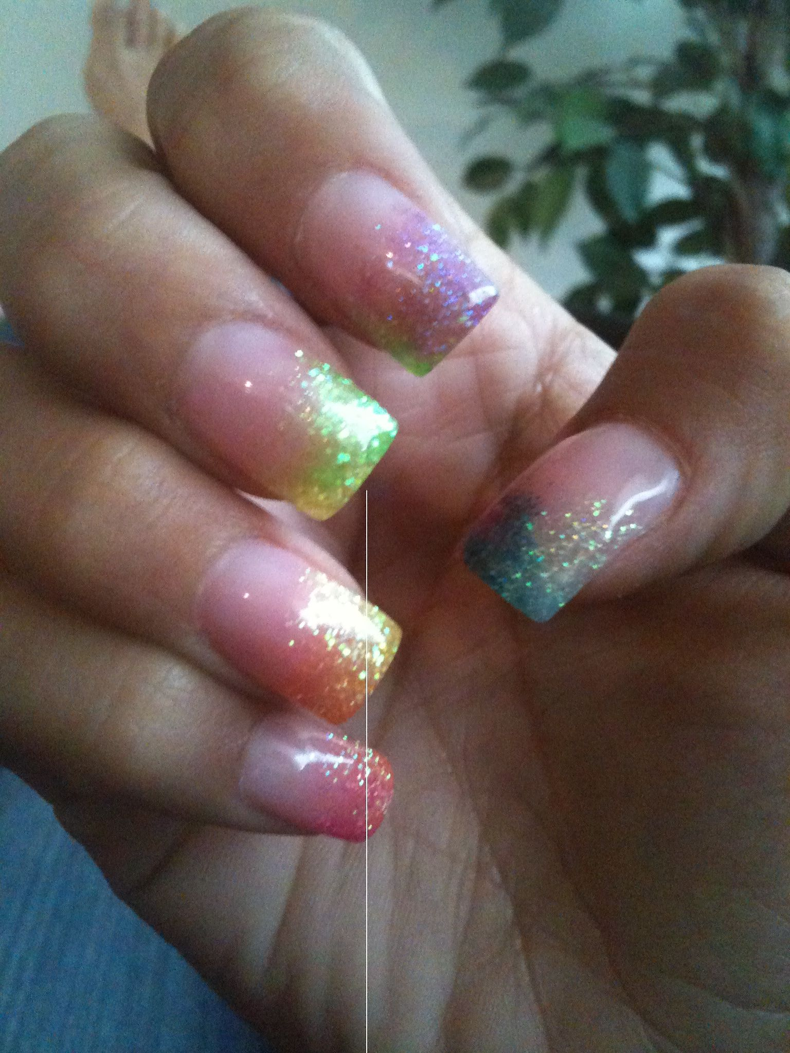 Color fade nails | nailed it | Pinterest | Faded nails and Makeup