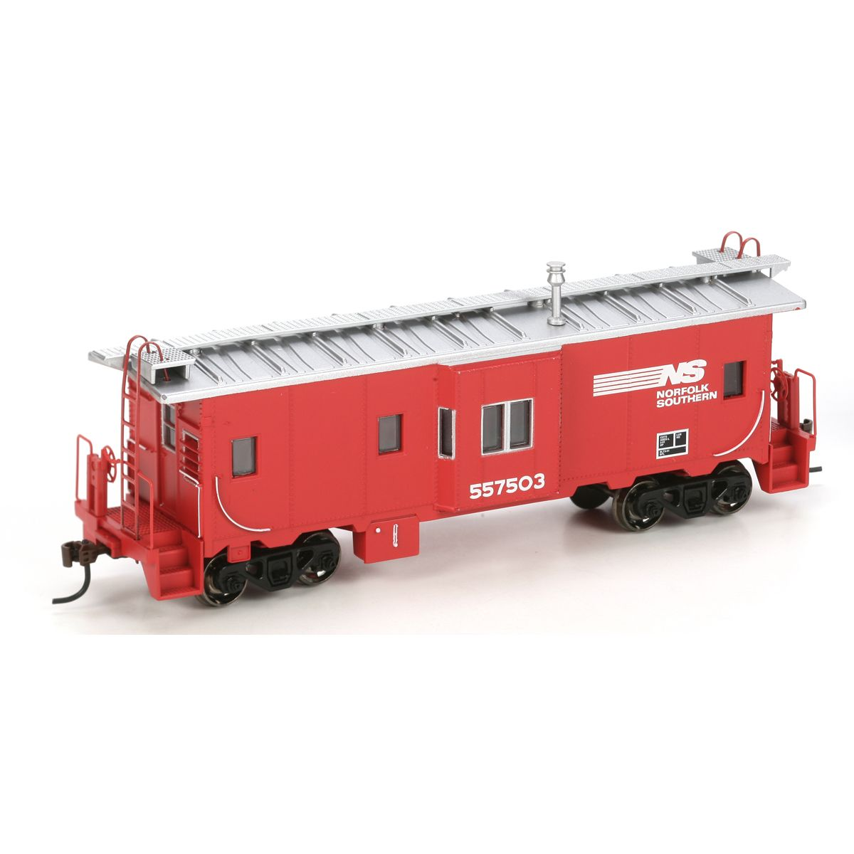 HO RTR Bay Window Caboose, NS/Red #557503 (ATH7464