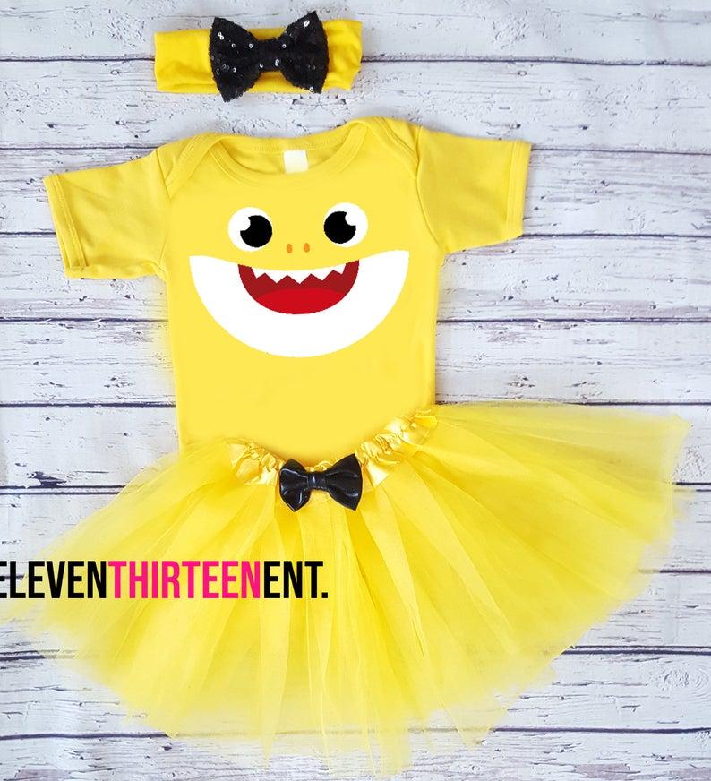 Baby Shark Toddler Costume Yellow
