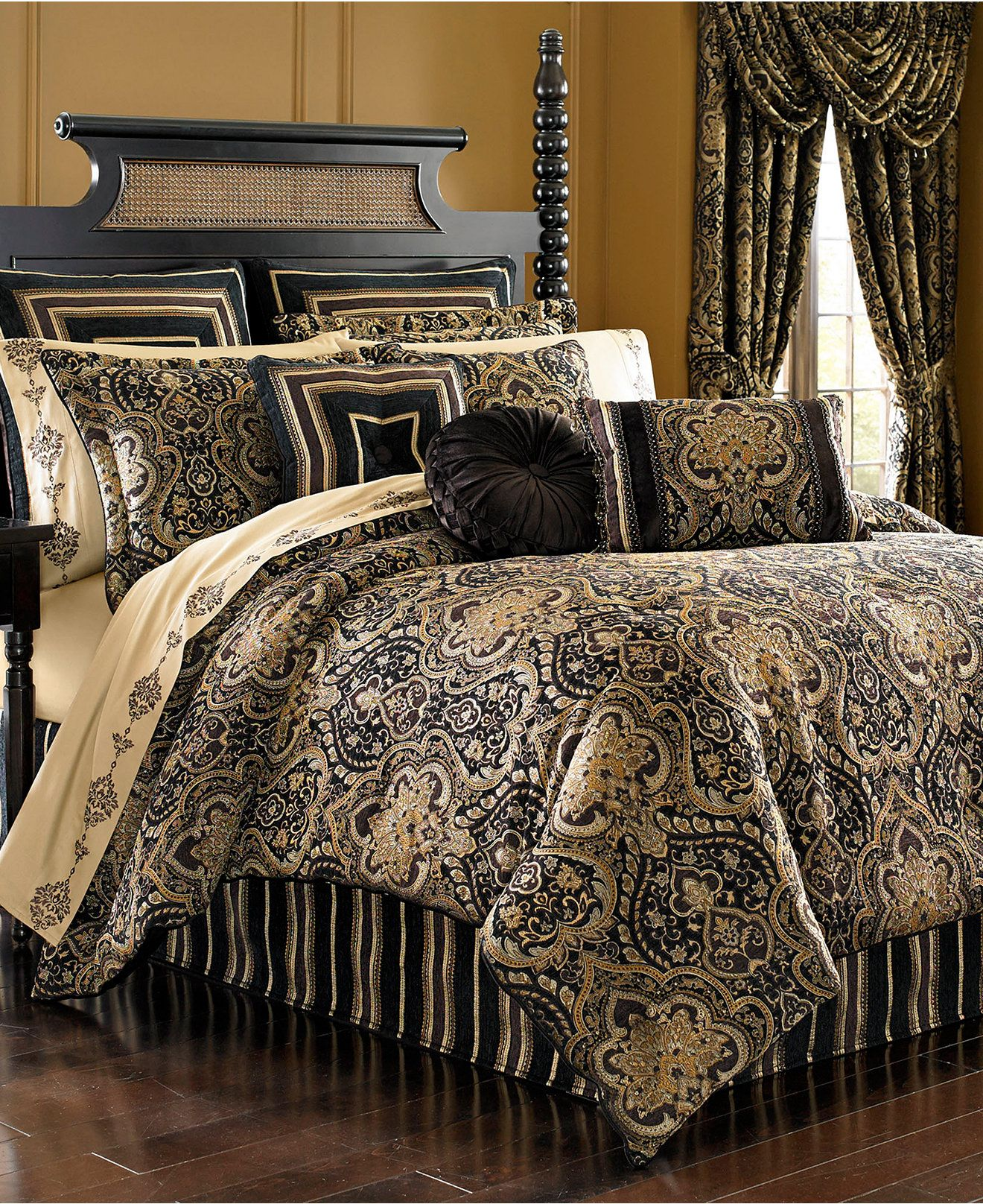 Bedroom Furniture Queens Ny j queen new york paramount bedding collection - bedding
