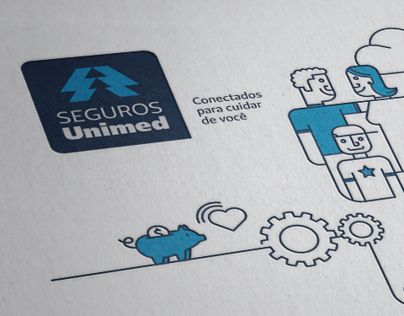 Brand Identity for Seguros Unimed - Guide, icons & illustrations
