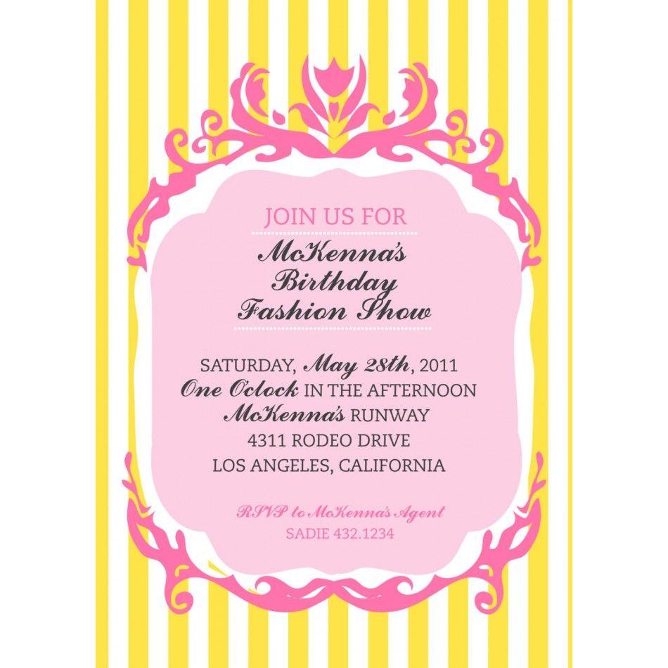 Couture Fashion Show Birthday Party Printable Invitation18