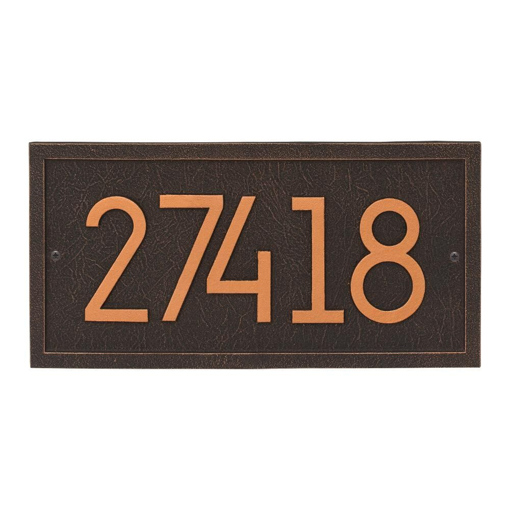 Whitehall Products Rectangle Modern Personalized Rectangle Wall Plaque Oil Rubbed Bronze Whitehall Products Address Plaque Wall Plaques