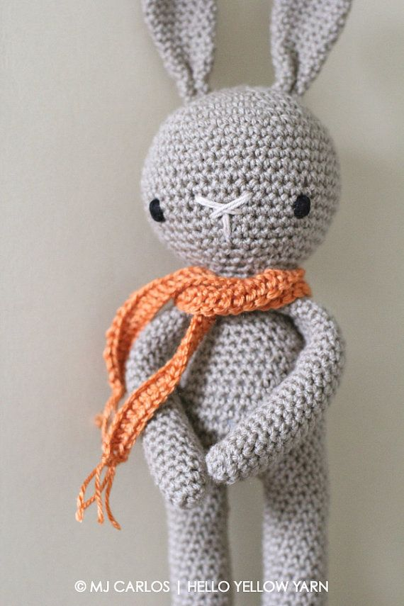 Crochet Amigurumi Cute Bunny PATTERN ONLY Crochet Stuffed | now ...