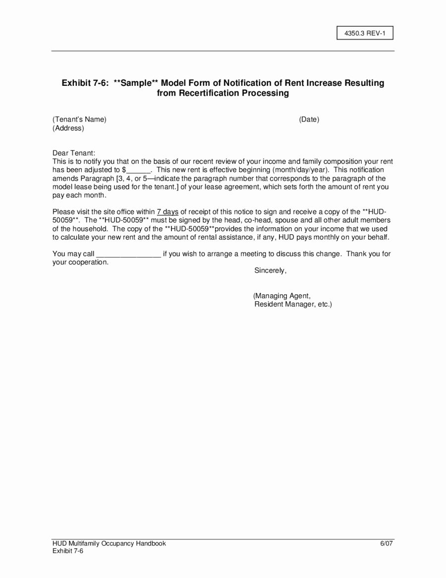 Coverletterexamples Part Rent Increase Sample Letter With Regard