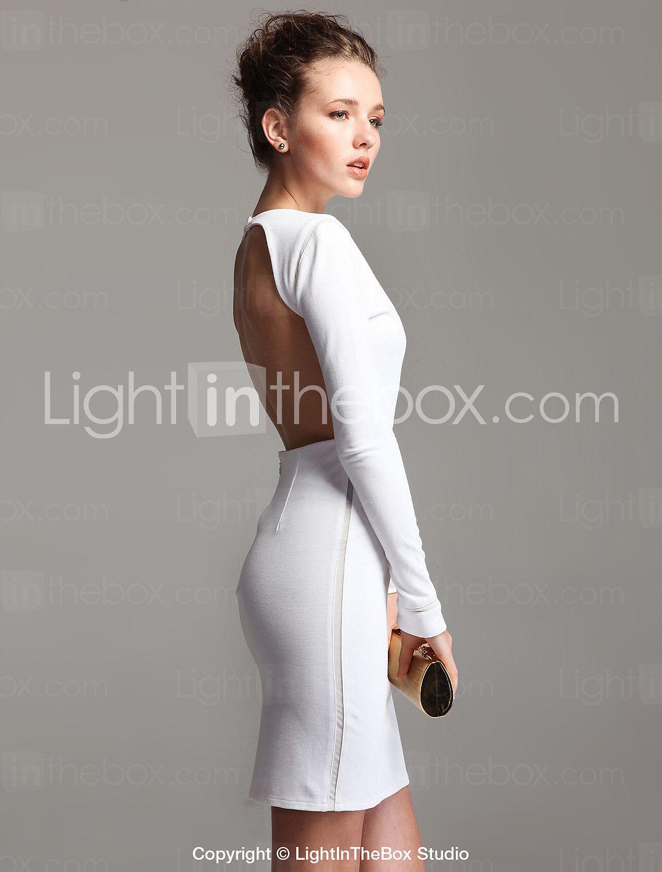 Ts backless longsleeve bodycon dressmore colors usd