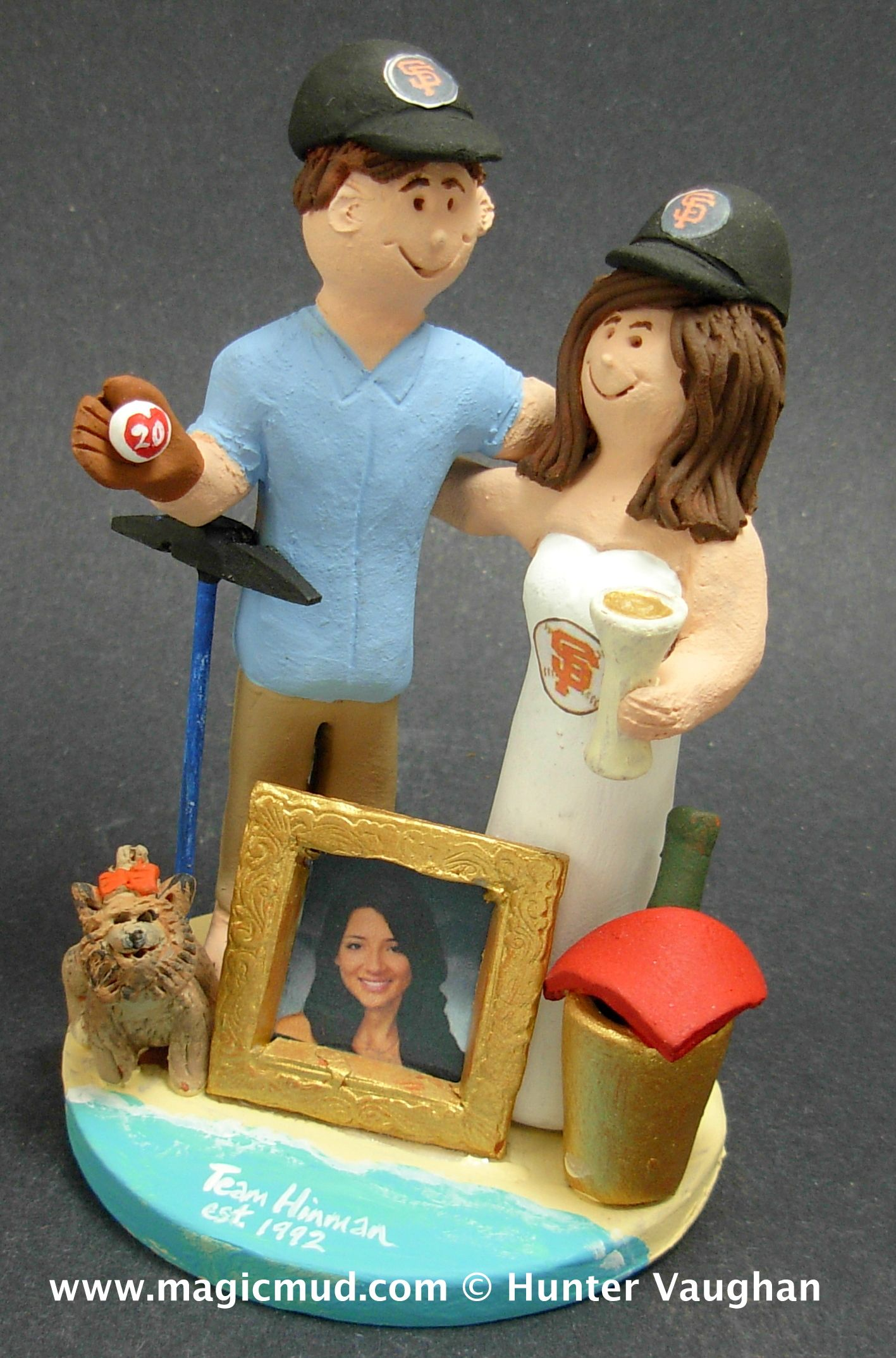 20th Wedding Anniversary Cake Topper by http://magicmud.com/Wedding%20photos.htm  $235  magicmud@magicmud.com  1 800 231 9814  https://www.facebook.com/PersonalizedWeddingCakeToppers  https://twitter.com/caketoppers  #wedding #cake #toppers  #custom #personalized #Groom #bride #anniversary #birthday#weddingcaketoppers#cake toppers#figurine#gift#wedding cake toppers #beach #destination