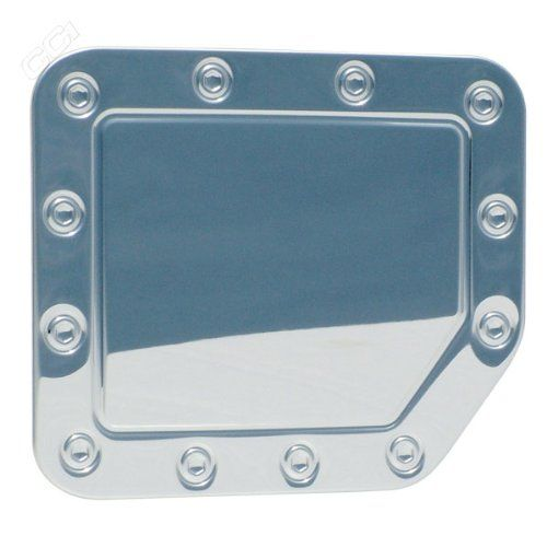 New Polished Stainless Steel Gas Cap Fuel Door Cover: 2004