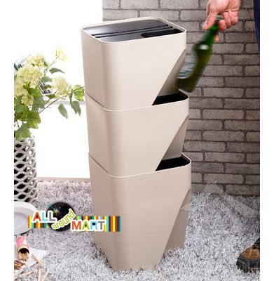 Large Home Kitchen Office Small Recycle Bin Can Waste Garbage Dustbin  Classification Storage Organizer. Free