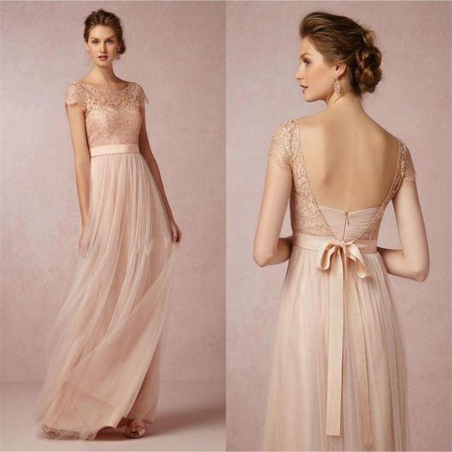 2015 Vintage Spitze Brautjungfer Kleider Erroten Rosa Gunstige Backless High Neck Mutter Der Braut Form Brautjungfern Kleider Kleider Hochzeit Trauzeugin Kleid