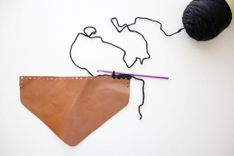 Crocheted Leather Flap Clutch Tutorial Delia Creates Diy Leather Coin Purse Clutch Tutorial Leather Diy