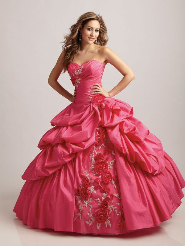 dresses with pick ups | ... /uploads/2012/02/Floral-Quinceanera ...
