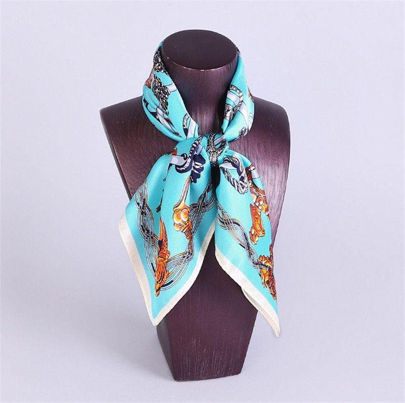 100% Pure silk printed scarf New fashion women's Work wear silk scarf print satin square scarf hotel bank work wear scarf