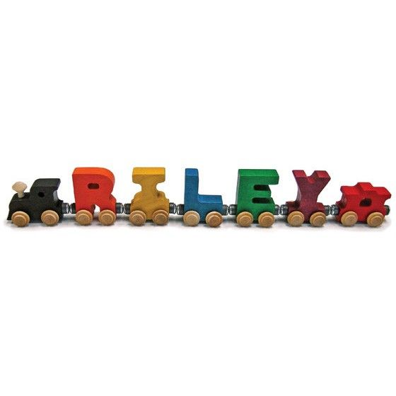 wooden train letters for children's names 1