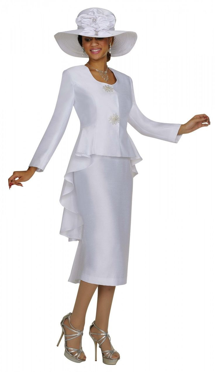 White Dress Suits For Women - Dress Ty | Churchwear | Pinterest ...