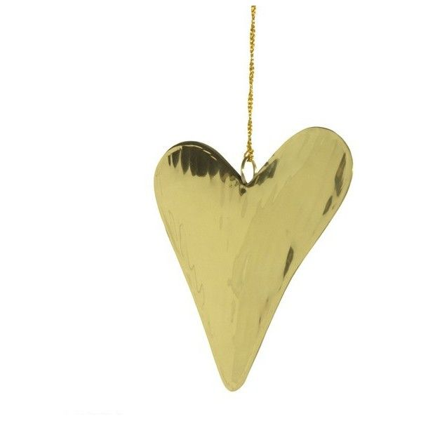 Bark Blossom Metallic Gold Hanging Heart 5 80 Liked On Polyvore Featuring Home Home Decor Metallic Hom Gold Home Accessories Hanging Hearts Gold Metal