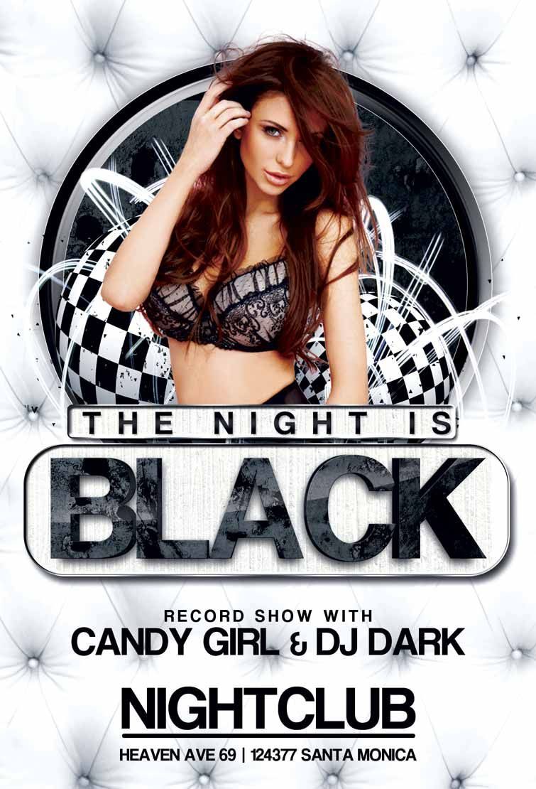 free black night club party flyer template free flyer templates