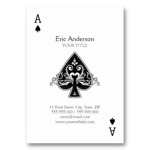 Ace Of Spades Business Card Zazzle Com Unique Business Cards Design Custom Business Cards Minimalist Business Cards