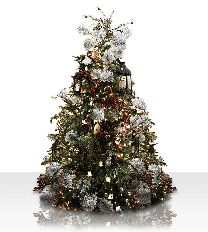 This Is A Photo Of A Deluxe Geneva Fir We Have Decorated In Our Christmas Show Realistic Artificial Christmas Trees Christmas Tree Decorations Tree Decorations