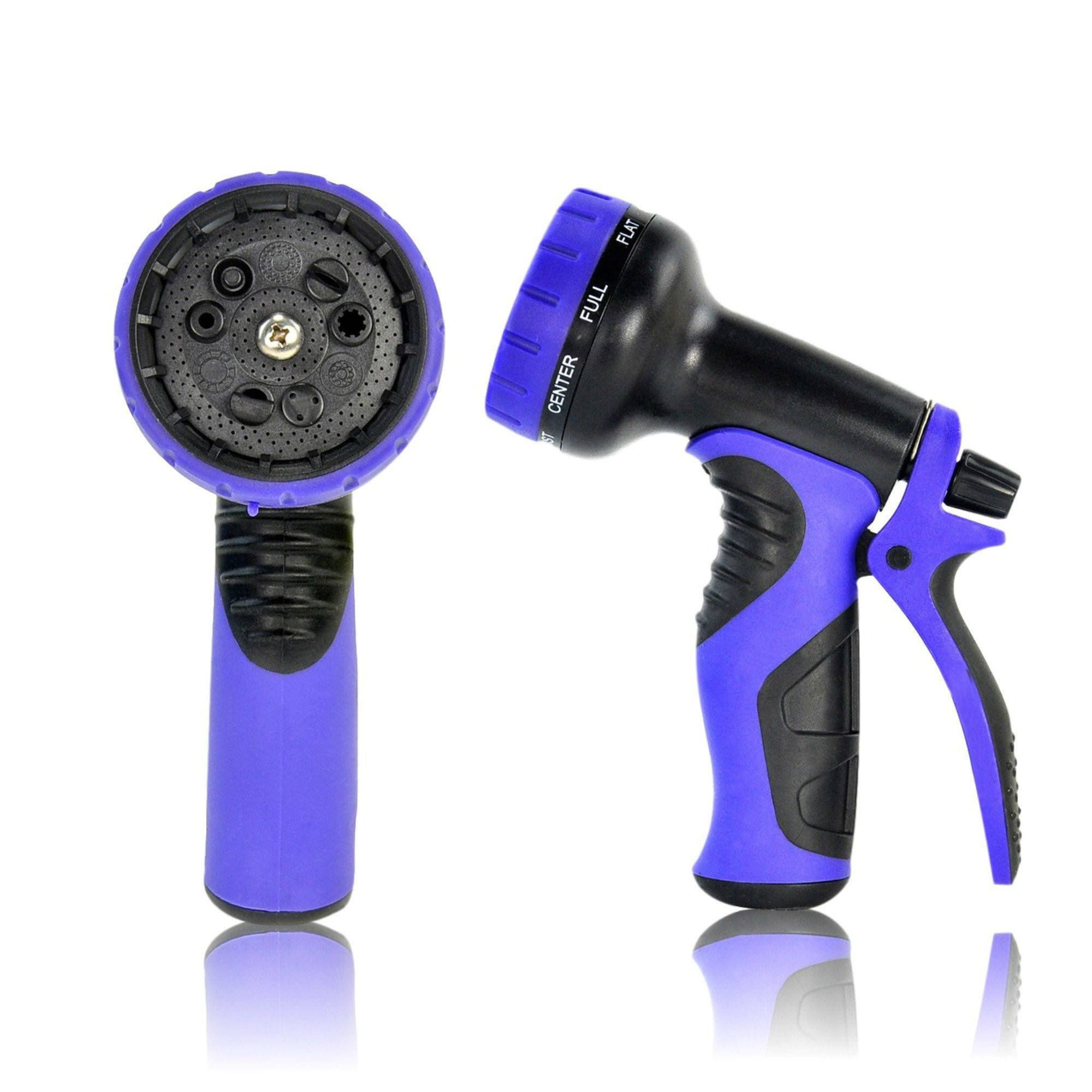 Top Rated Hose Nozzle With 9 Adjustable Settings Blue Garden Hose Water Hose Ikea Garden Furniture
