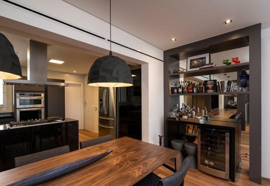 Bar Na Sala De Jantar Com Imagens Sala De Apartamento