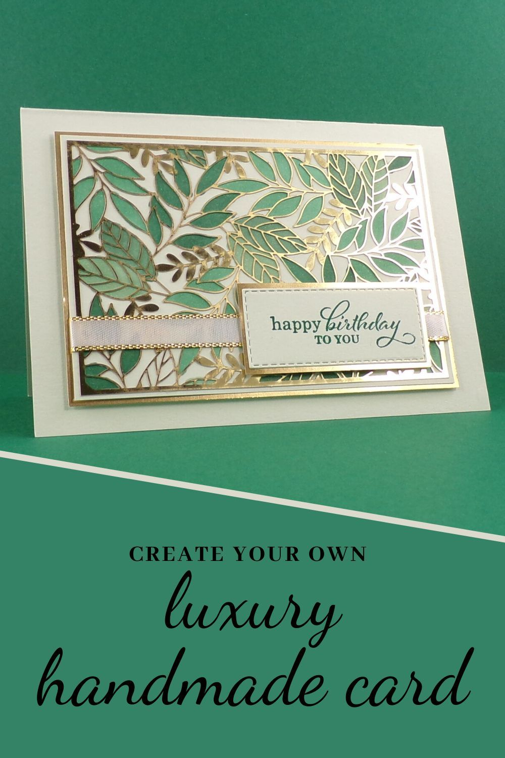 Use the step-by-step tutorial on our blog to create this gorgeous handmade birthday card yourself! This card was created by UK Stampin Up demonstrator Sarah Phelan for Sarah's Stampin' Retreat using the Forever Gold Laser-Cut specialty DSP from Stampin Up